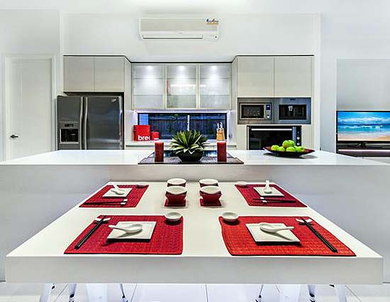 Hia northern queensland display home of the year Hia kitchen design course