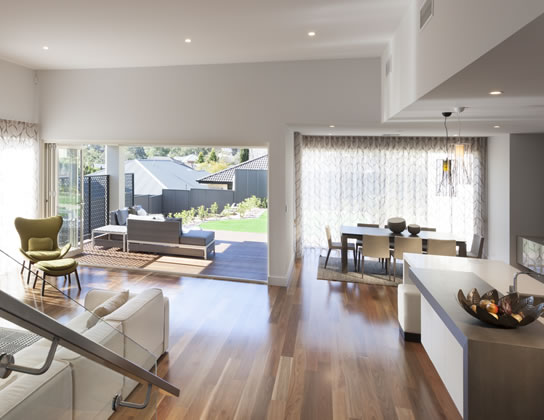 Chicago 55 by Metricon Homes - HIA 2014 South Australia Display Home of the Year - family room