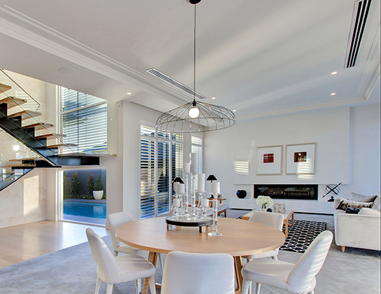 Foreshore by Better Building Services - winner of the HIA Display Home of the Year - kitchen and eating area