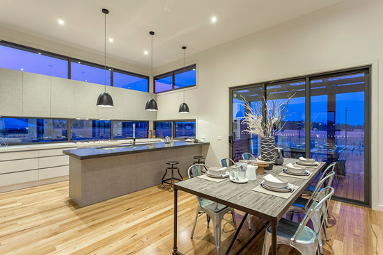 Coastal D34 by Pivot Custom Homes - HIA 2014 Western Victoria Display Home of the Year - dining