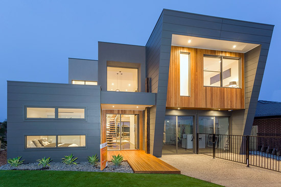 Coastal D34 by Pivot Custom Homes - HIA 2014 Western Victoria Display Home of the Year - front