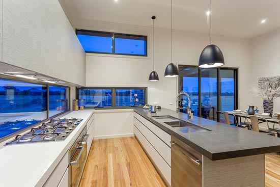 Coastal D34 by Pivot Custom Homes - HIA 2014 Western Victoria Display Home of the Year - kitchen