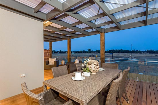 Coastal D34 by Pivot Custom Homes - HIA 2014 Western Victoria Display Home of the Year - outdoor entertaining area