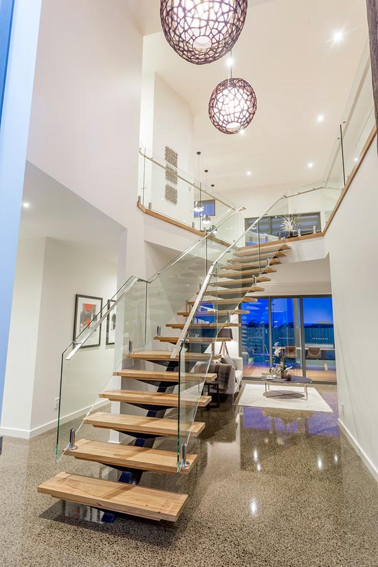 Coastal D34 by Pivot Custom Homes - HIA 2014 Western Victoria Display Home of the Year - staircase