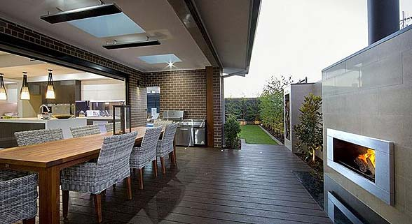 The Curzon by Mayfair Homes alfresco entertaining area
